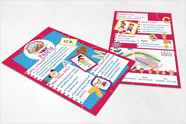pearls preschool flyer