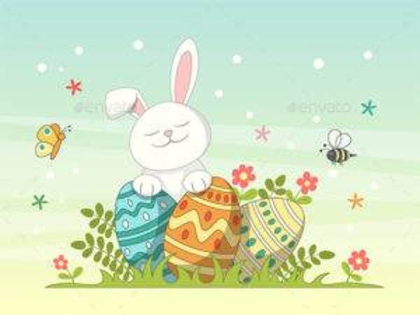 playful easter greeting card