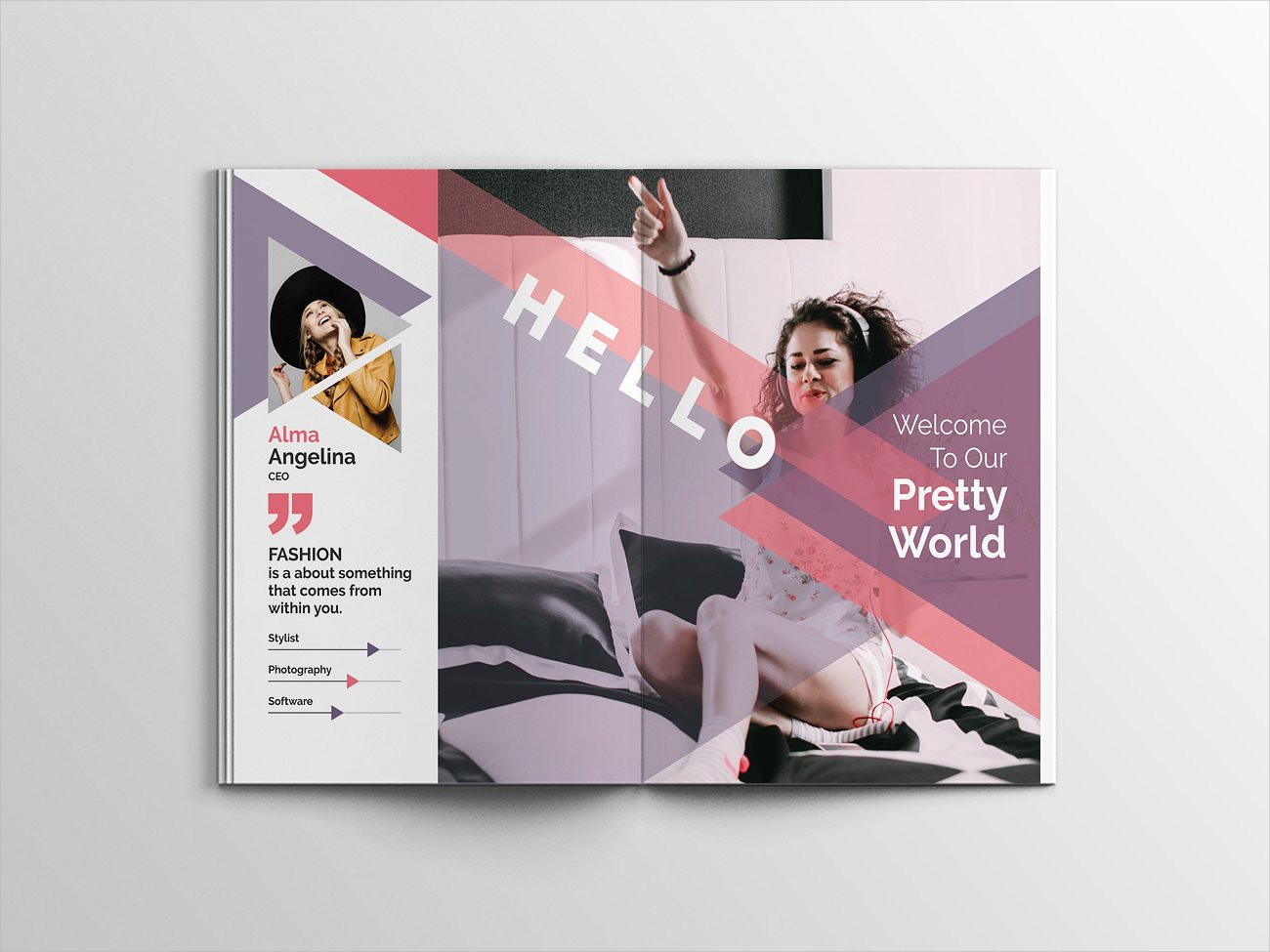 pretty fashion magazine template design
