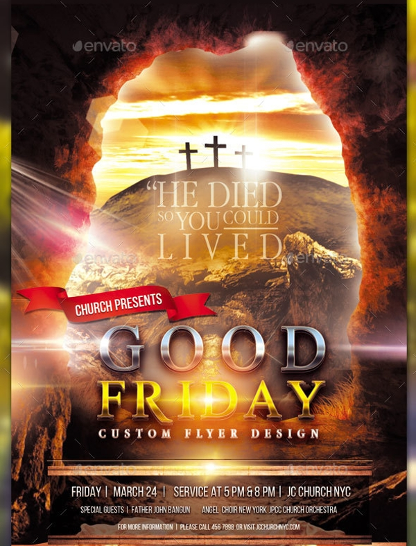print ready good friday flyer