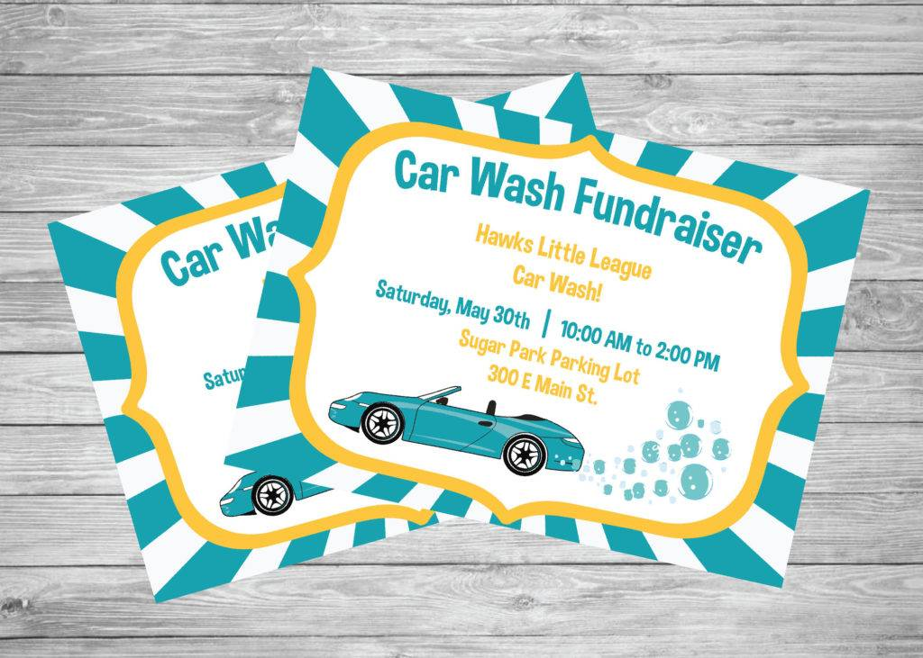 printable car wash fundraiser flyer