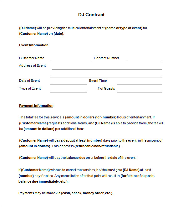 Grief Awareness Day  Blank Contract Forms