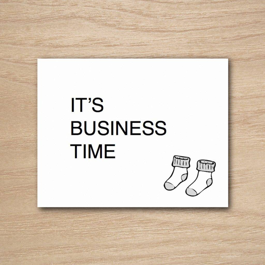 printable funny business greeting card