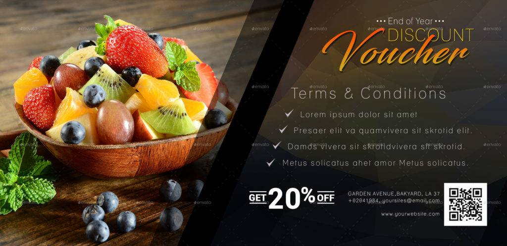 product discount voucher template