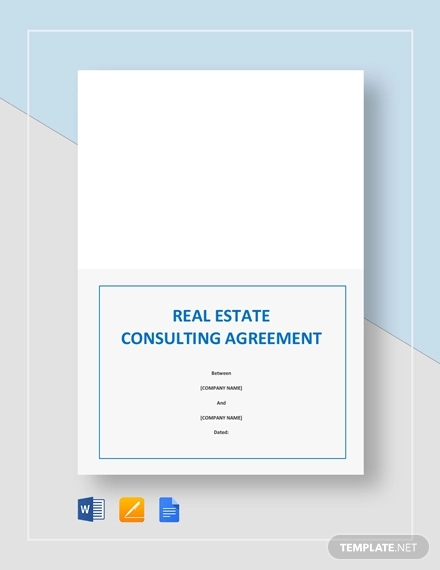 real estate consulting agreement