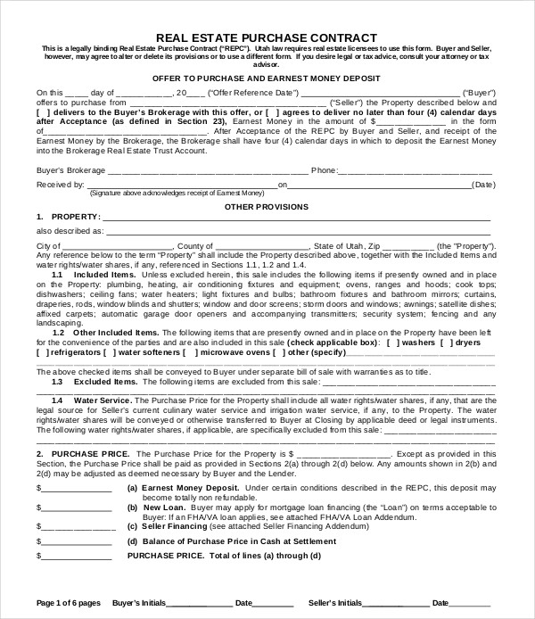 real estate purchase contract4