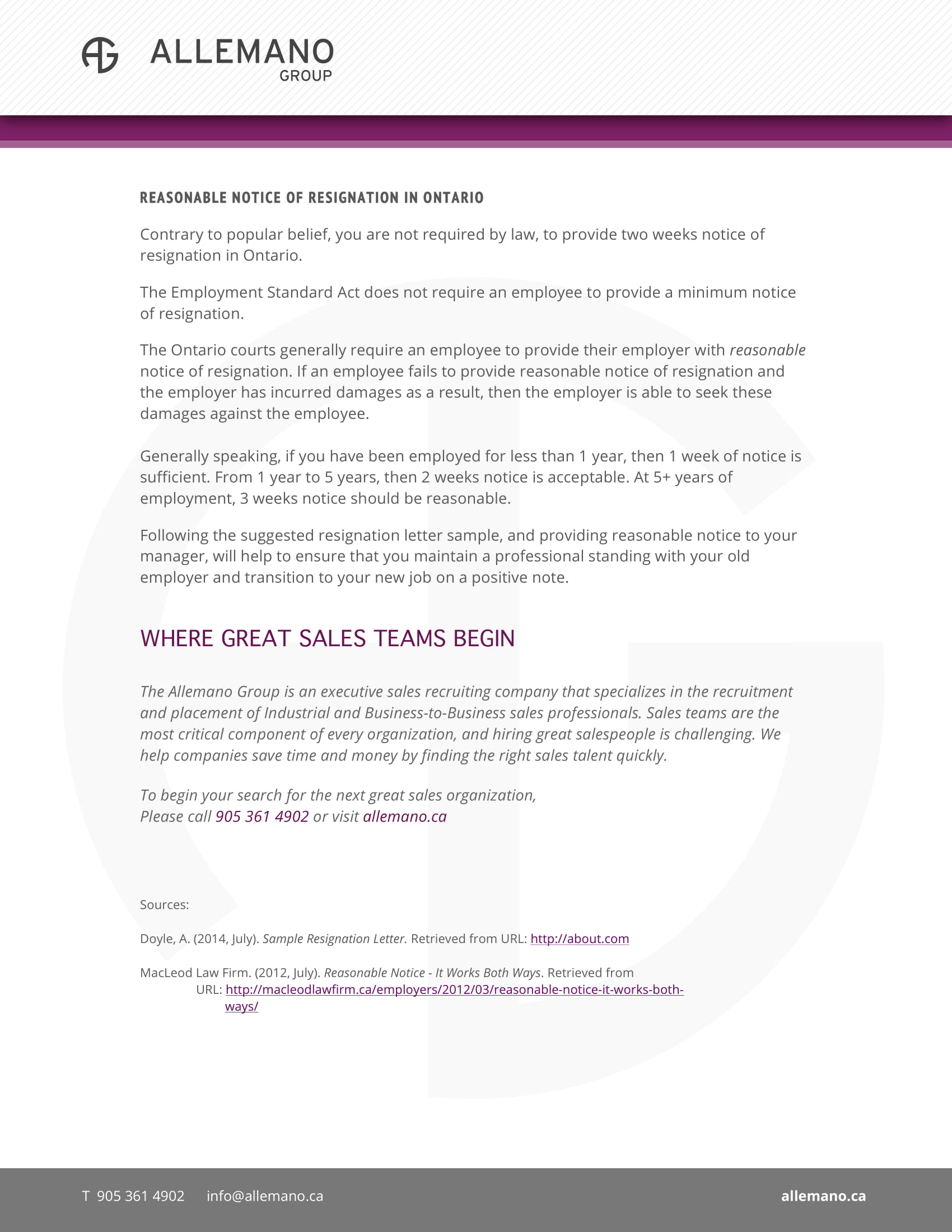 reasonable notice of resignation letter free pdf template 2