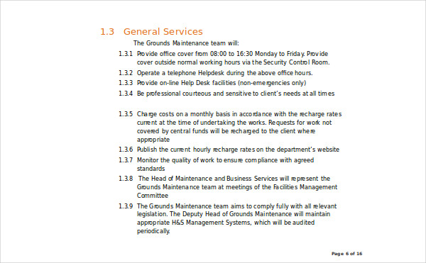 residential services level agreement