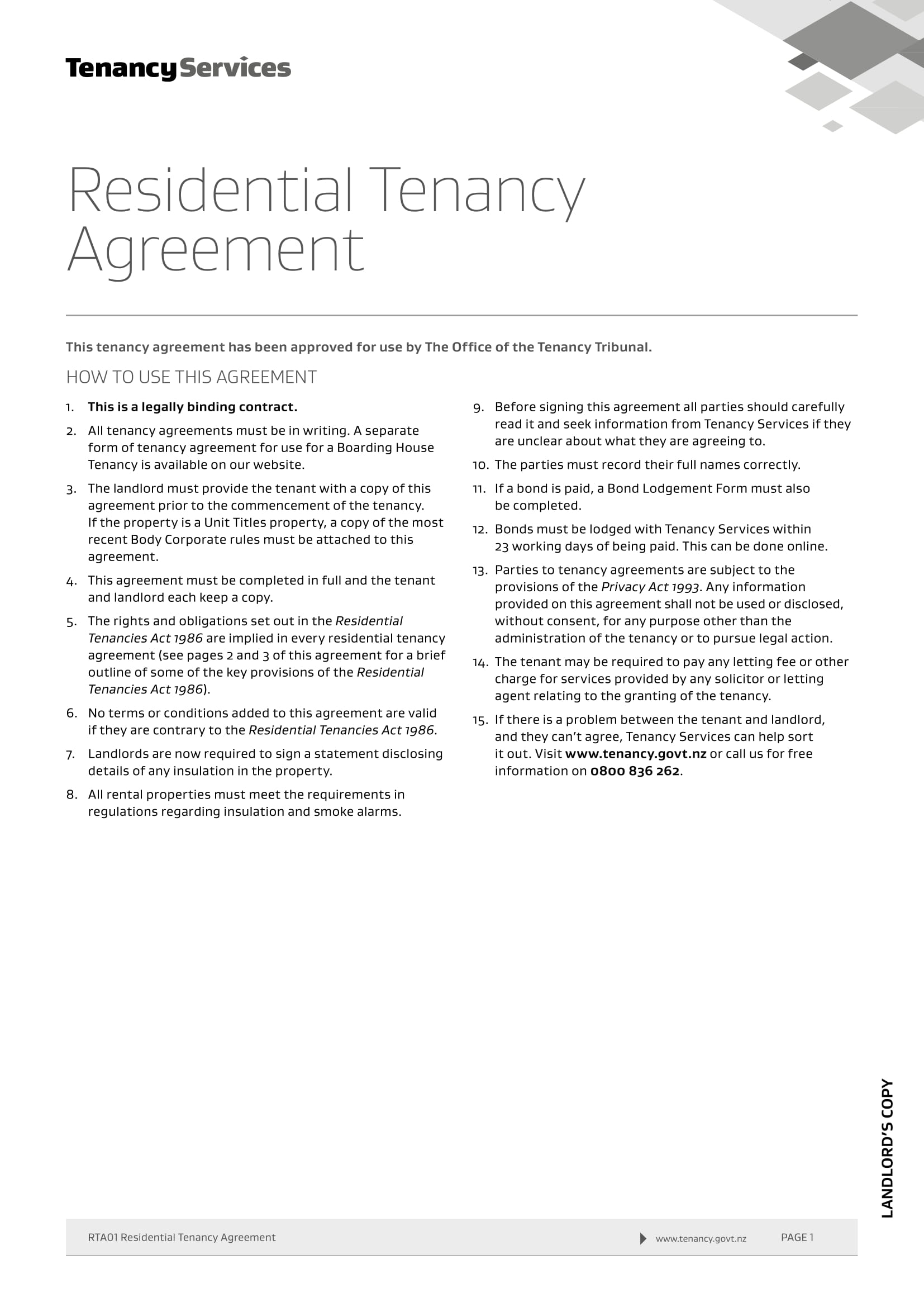 residential tenancy agreement 01