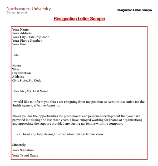 Writing a heartfelt resignation letters in pdf resignation letter example expocarfo