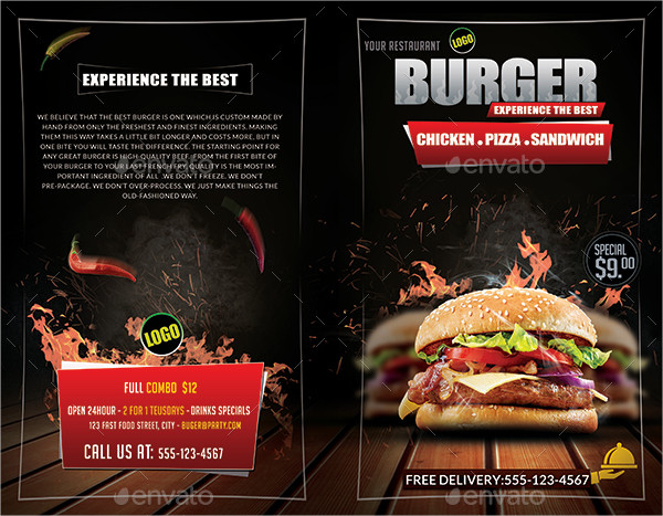 restaurant food burger menu