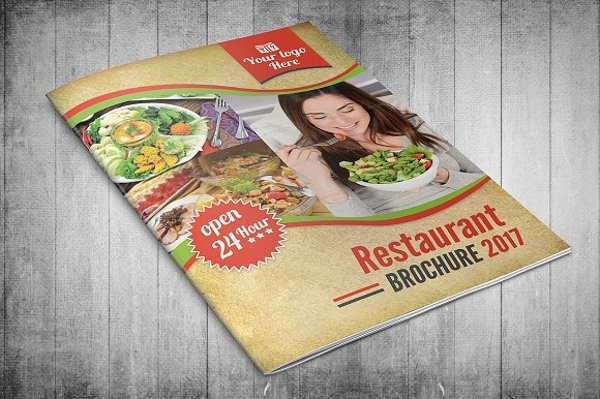 restaurant menu bi fold brochure