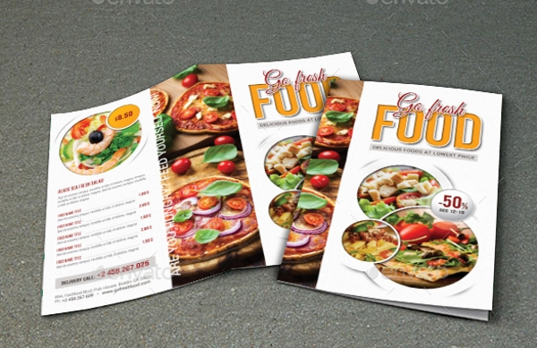 restaurant menu brochure template in psd