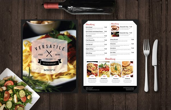 restaurant mockup menu with pasta1