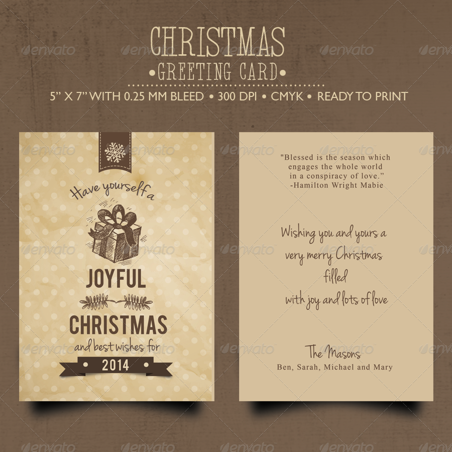 rustic christmas card example