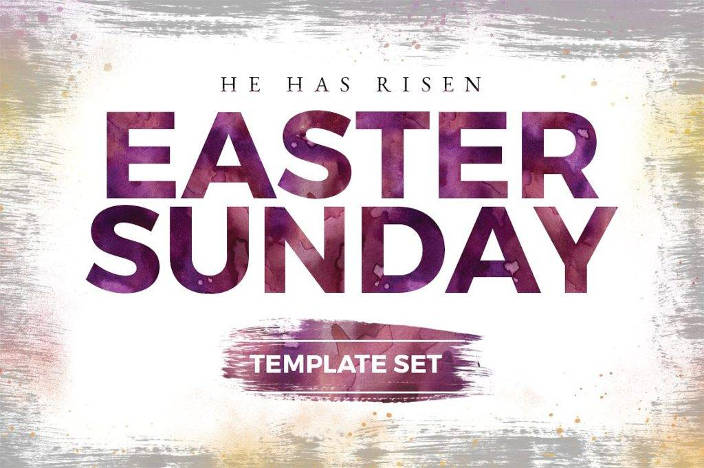 rustic easter sunday church template