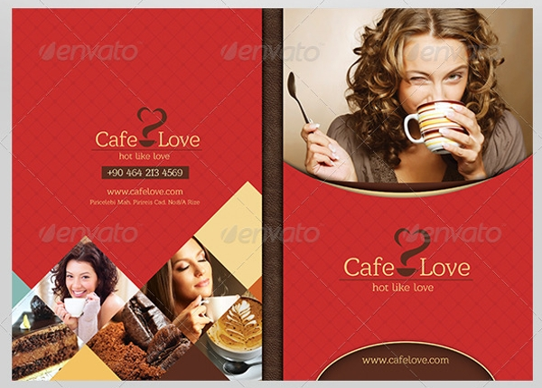 sample coffee brochure menu