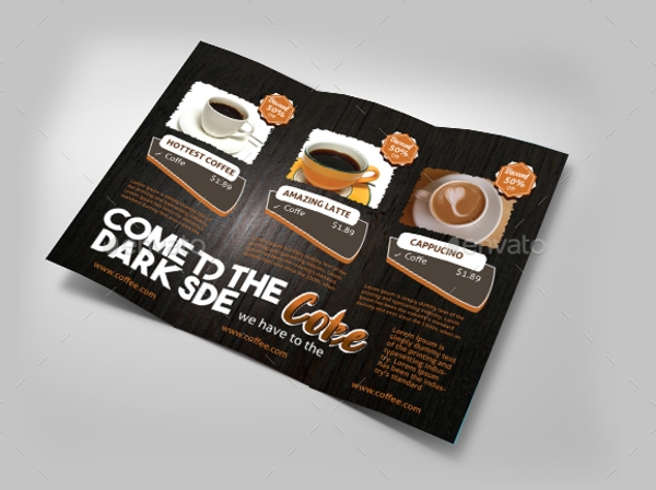 sample coffee brochure