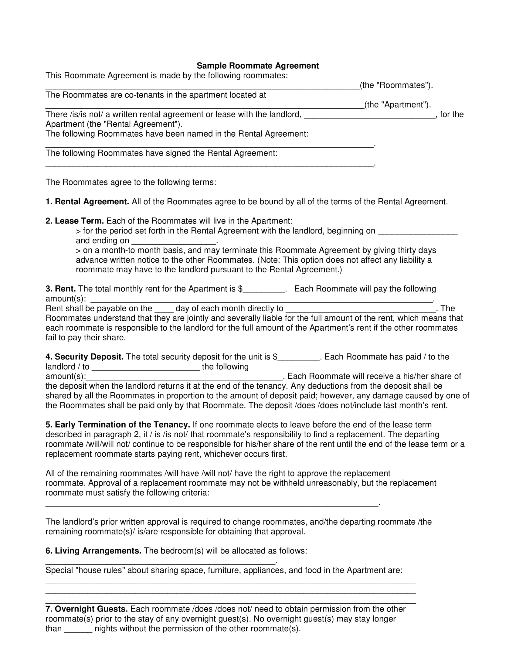 Agreement Example Selol Ink