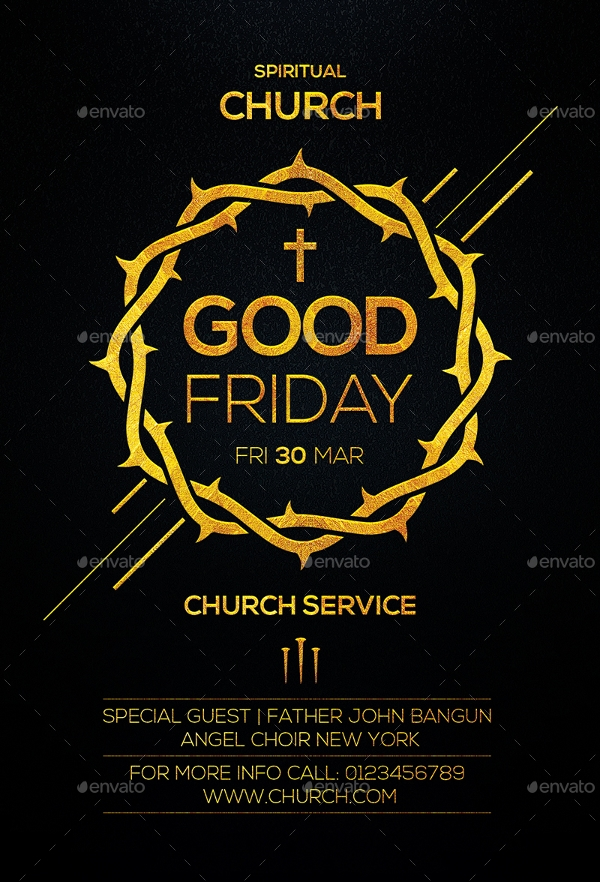 scalable good friday flyer
