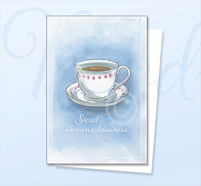 secret womens business greeting card
