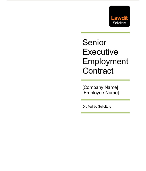 senior executive employment contract