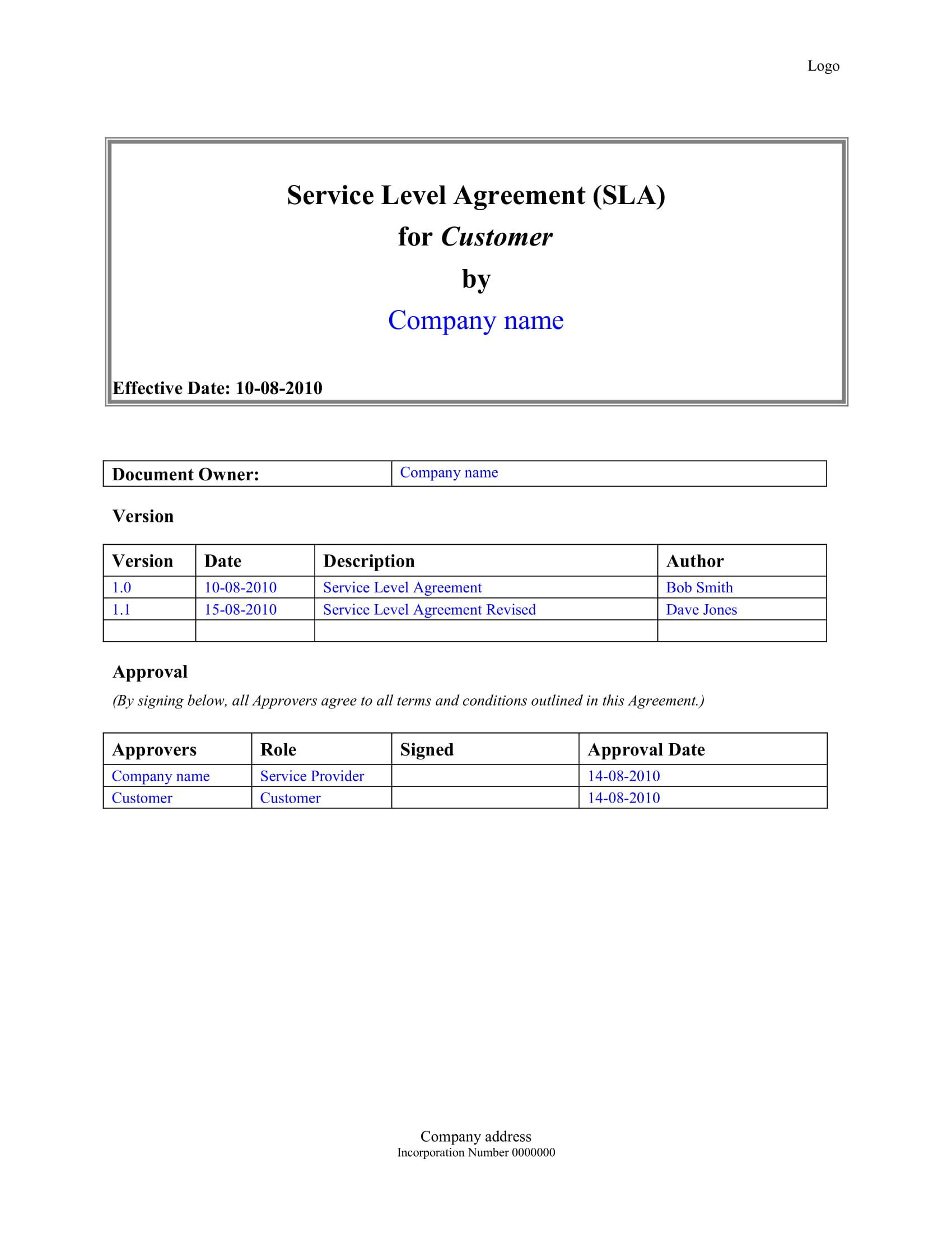 servicelevelagreementtemplate 1