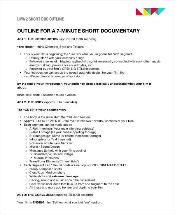 short documentary outline1