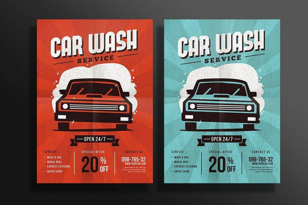 simple car wash flyer