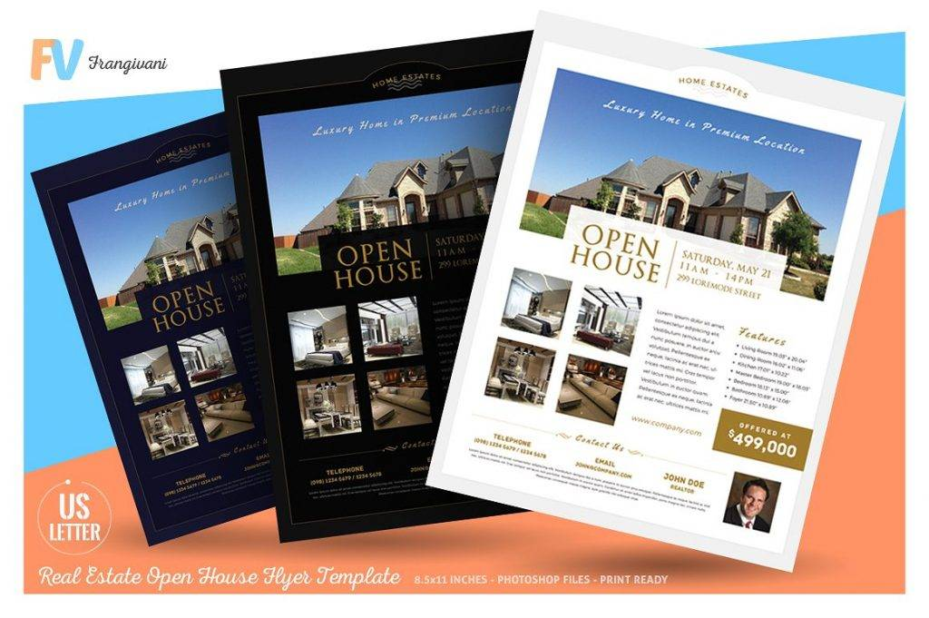 simple real estate open house flyer
