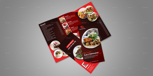 simple restaurant brochure template