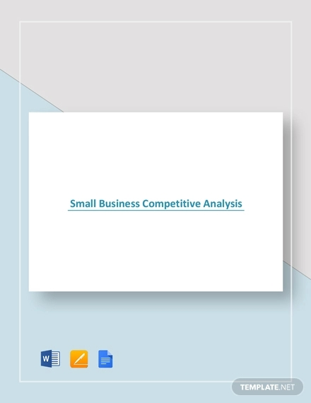 small business competitive analysis example