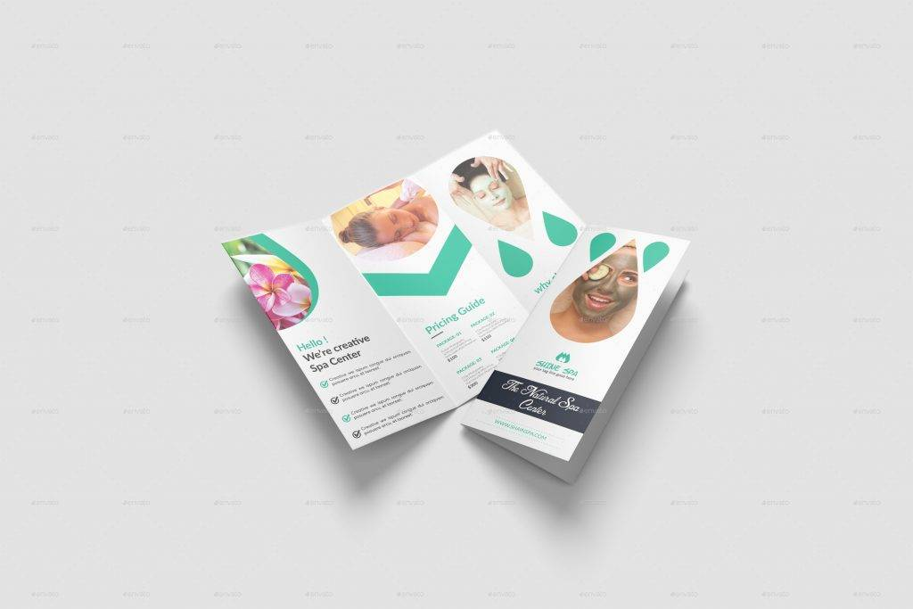 spa brochure template and menu