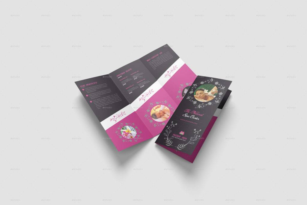 spa brochure and menu template