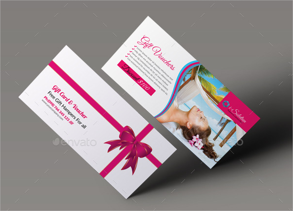 spa gift voucher template