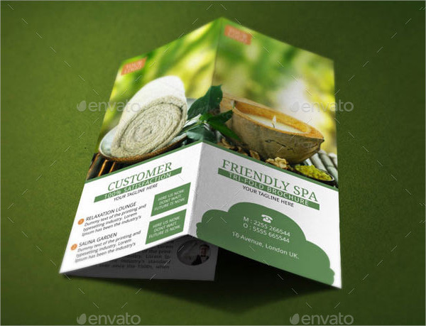 spa resort menu and brochure template