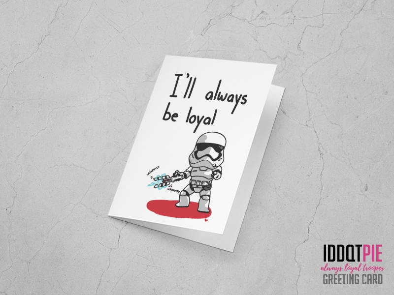 star wars awakens greeting card
