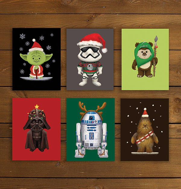 star wars christmas greeting card example