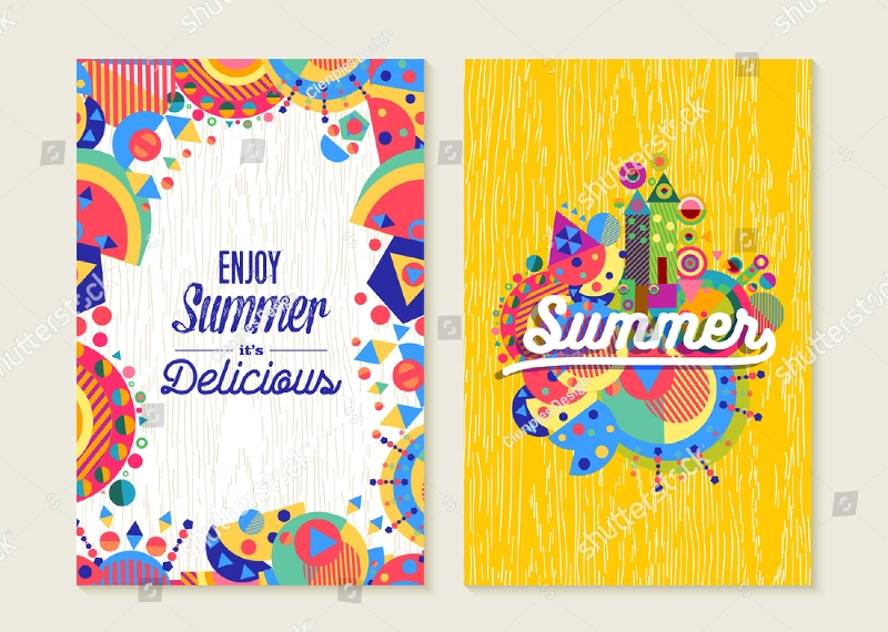 summer vacation greeting card
