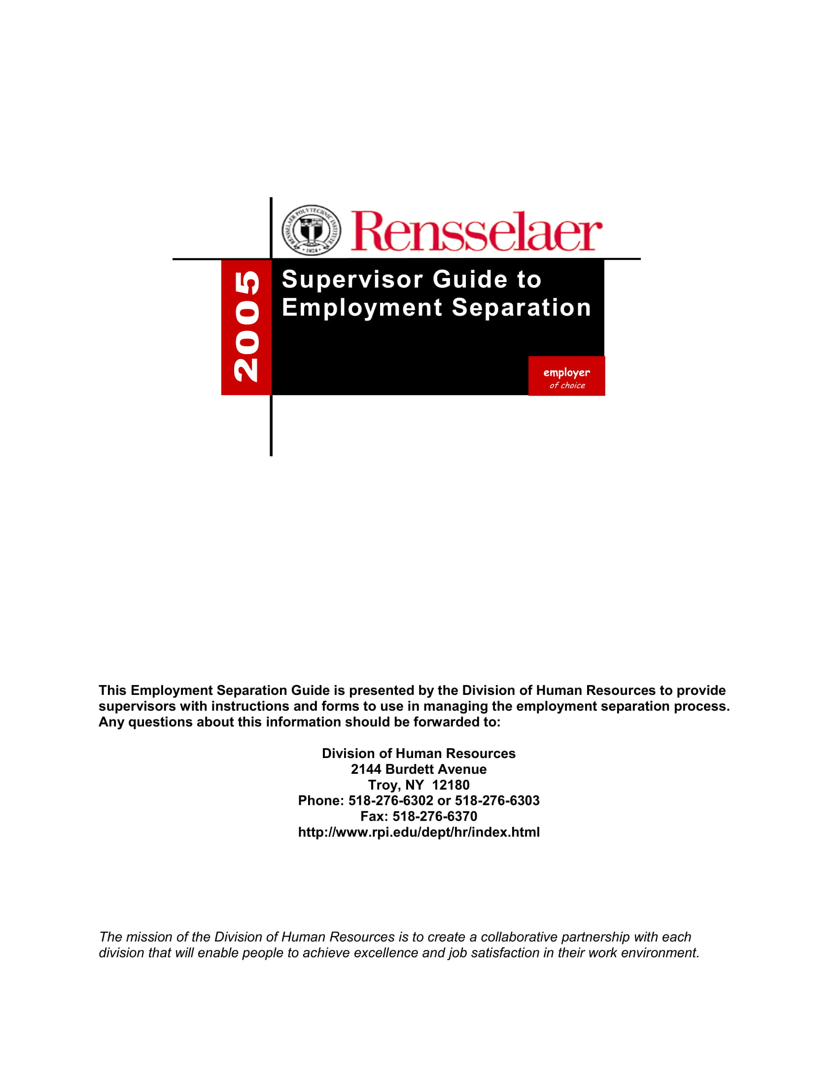 supervisors guide to employee separation 01