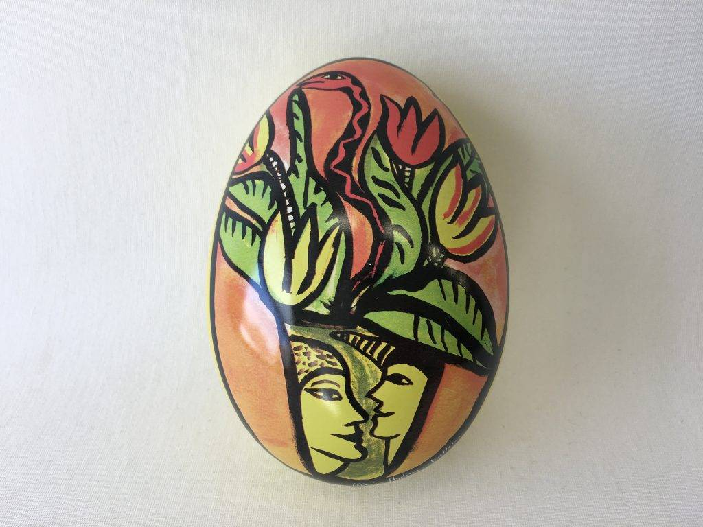 tin easter egg