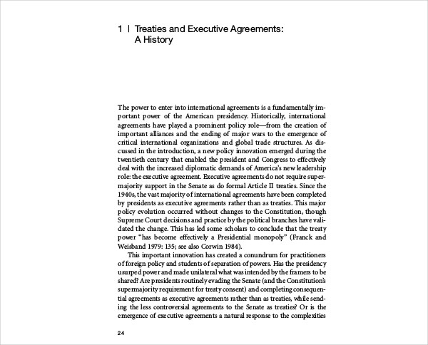 treaties executive agreement