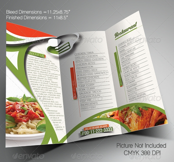 Restarunt Brochure. Cafe Menu Restaurant Brochure Food Design ...