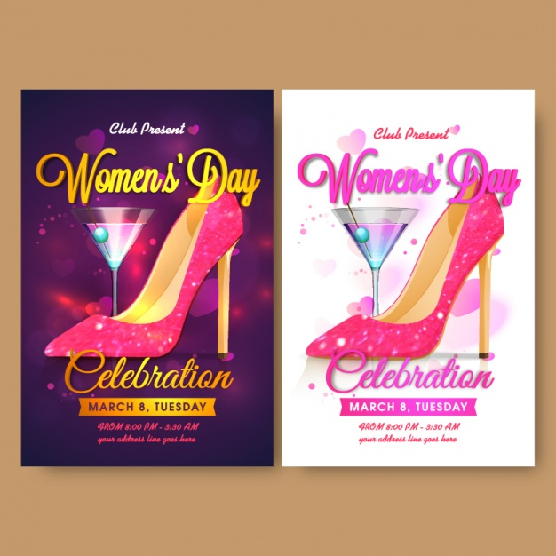 womens day cocktail party flyer