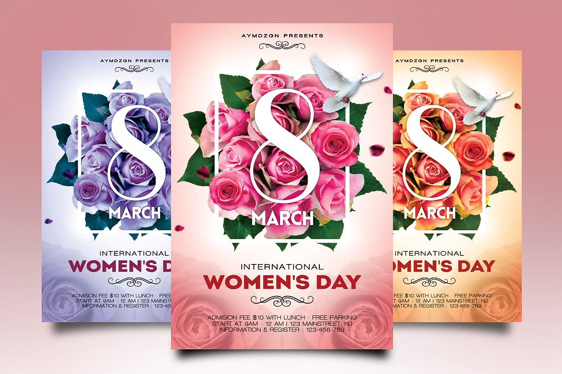 womens day event flyer