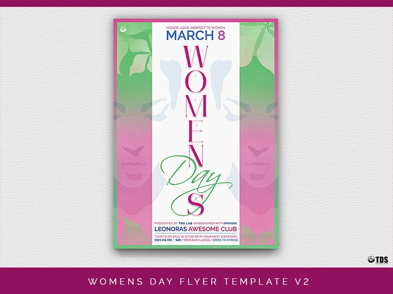 womens night party flyer