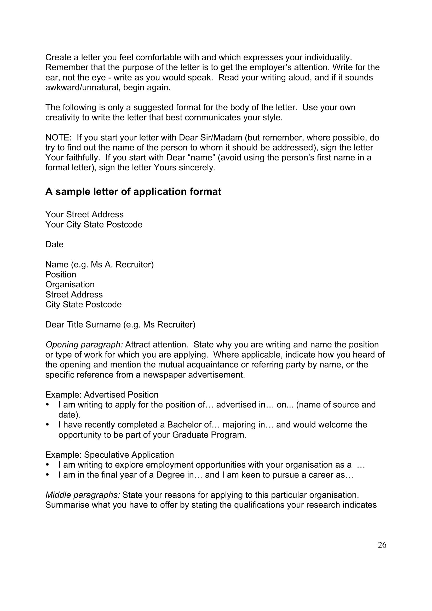 writing your application resume and application letter 28