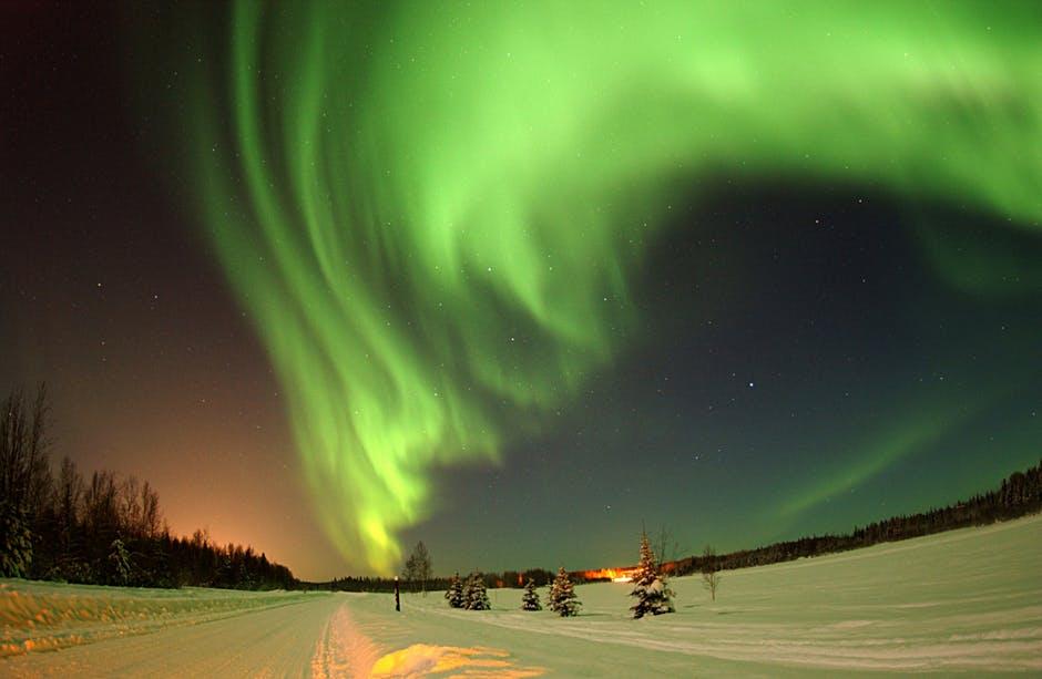 alaska wilderness sky aurora borealis 410041