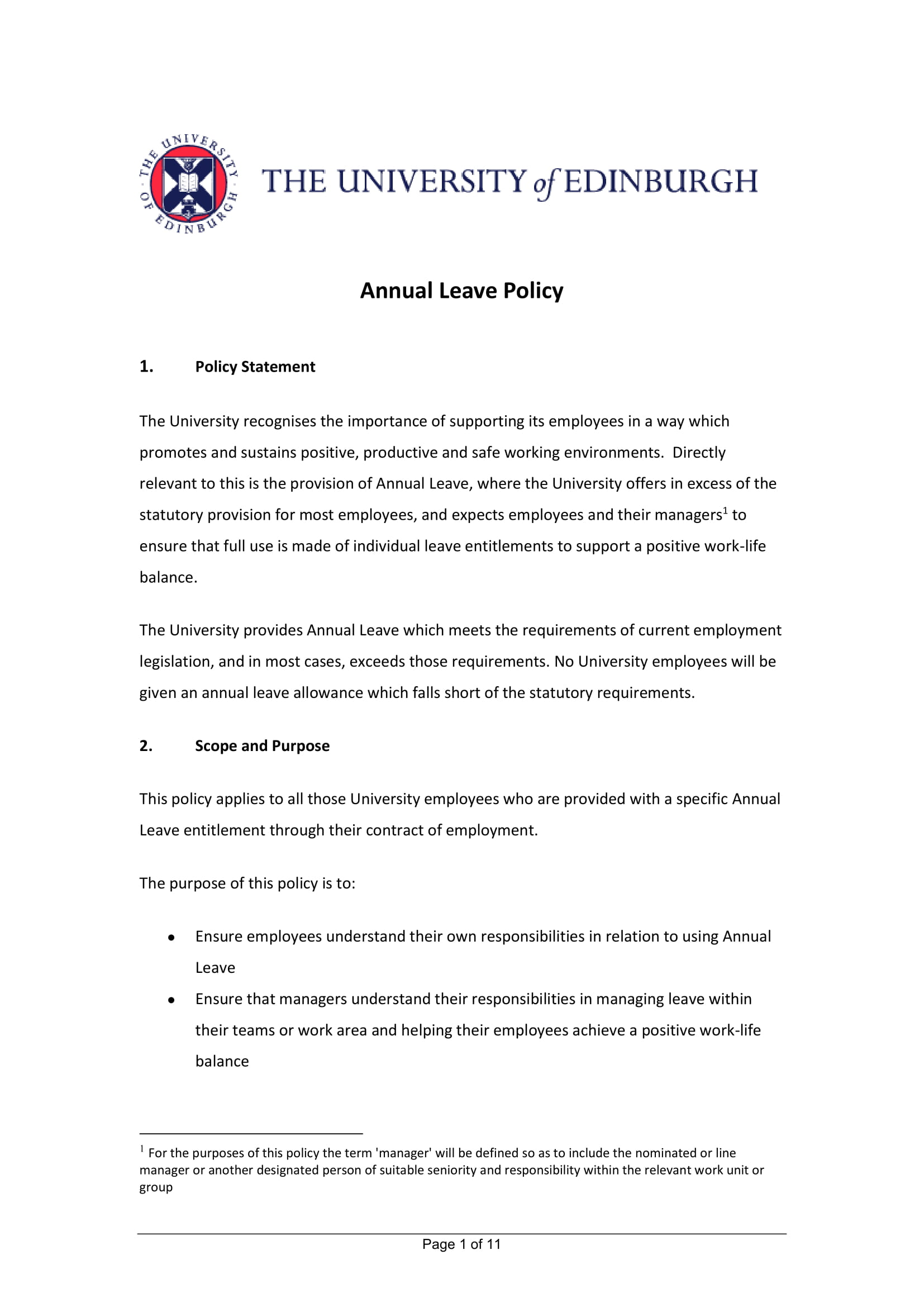 15 Leave Policy Examples Pdf Word Examples