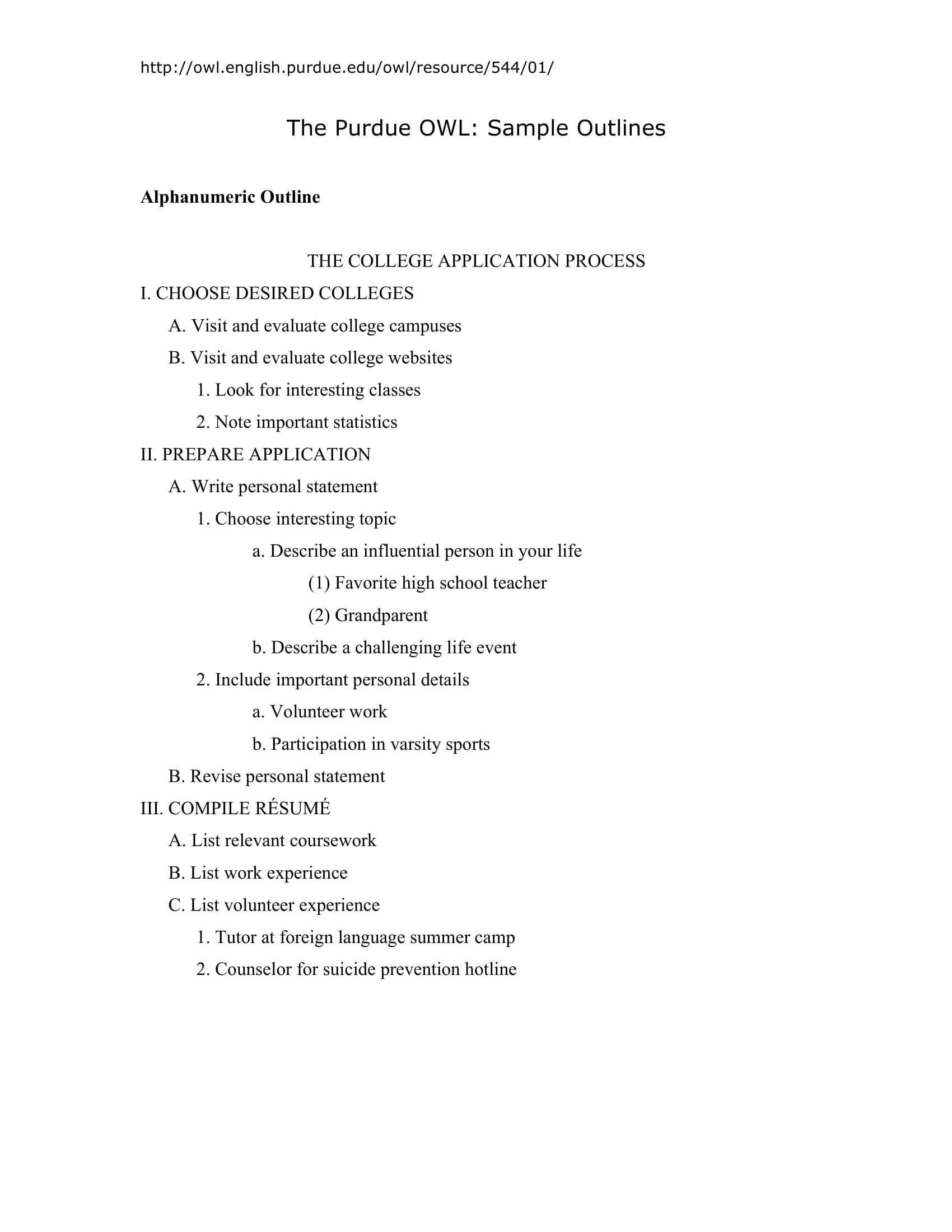 Outline Sample Apa Barcafontanacountryinncom